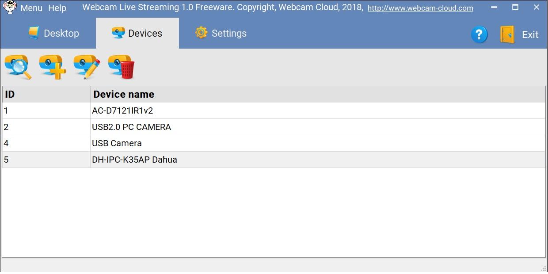 Webcam Streaming full screenshot